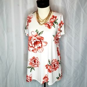 Ivory/Sienna Floral Everyday Tee By Agnes & Dora